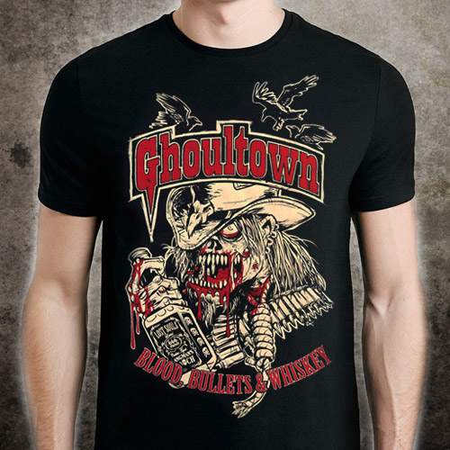 Blood, Bullets and Whiskey Shirt - Click to Close