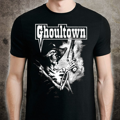 Skeleton Cowboy T-Shirt - Click to Close